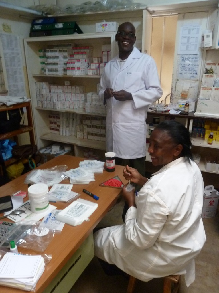 In het Artsen Zonder Grenzen hospitaal in Kitera