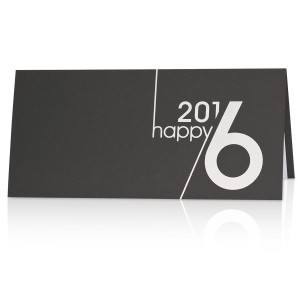 Luxe nieuwjaarskaart met jaartal
