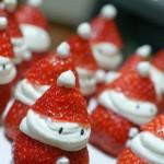 Kerstsnacks met aardbei