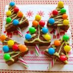 kerstboom met chocolade