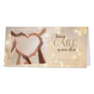 Liefdevolle nieuwjaarskaart 'Taking care of each other'