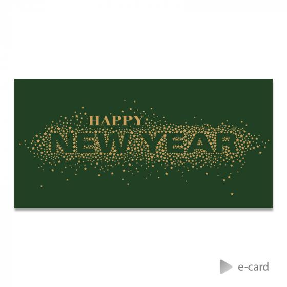 Trendy e-card schitterend Happy New Year